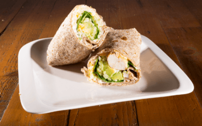 Grilled Chicken, Avocado and Spinach Wholemeal Wraps