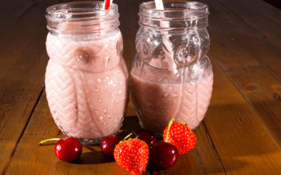 Cherry Berry Oatmeal Smoothie