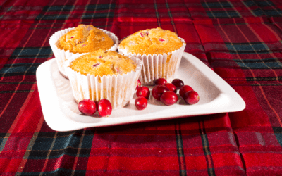 The Ultimate Healthy Cranberry and Orange Christmas Muffins